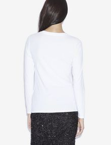 ARMANI EXCHANGE STUDDED SNOWFLAKE LONG-SLEEVED TEE Logo T-shirt [*** pickupInStoreShipping_info ***] e