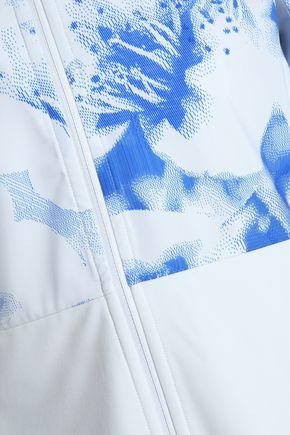 ADIDAS Paneled printed tech-jersey hooded jacket