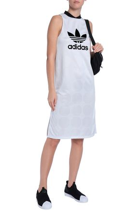 ADIDAS ORIGINALS Flocked jacquard dress