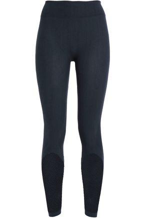 ADIDAS Mesh-paneled stretch leggings