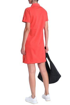 ADIDAS Cotton-blend piqué mini dress