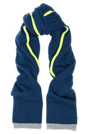 DUFFY Neon-trimmed cashmere scarf