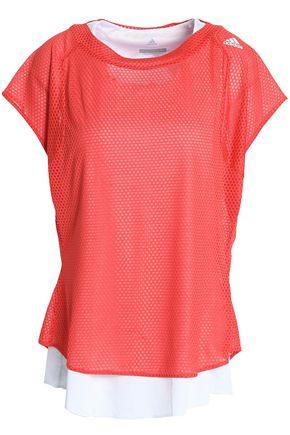 ADIDAS Layered mesh T-shirt