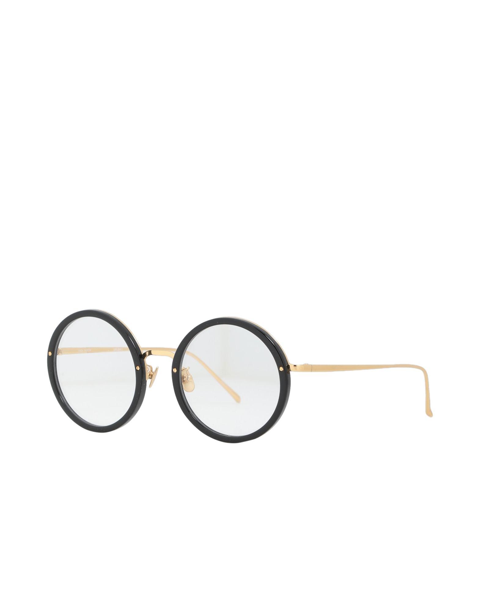 LINDA FARROW Damen Brille Farbe Schwarz Größe 9