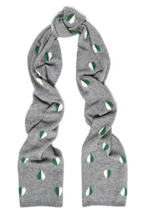 CHINTI & PARKER Jacquard-knit wool and cashmere-blend scarf