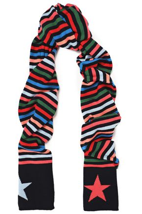 CHINTI AND PARKER Striped wool and cashmere-blend scarf