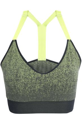 ADIDAS Marled stretch-jersey sports bra