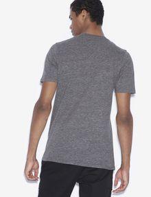 ARMANI EXCHANGE REGULAR FIT RUNDHALSSHIRT MIT PLAID-MOTIV UND KOORDINATEN Logo-T-Shirt [*** pickupInStoreShippingNotGuaranteed_info ***] e