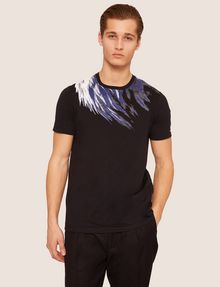 ARMANI EXCHANGE SLIM-FIT EAGLE FEATHER CREW Graphic T-shirt Man f