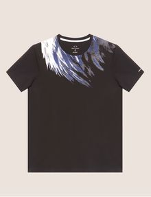 ARMANI EXCHANGE SLIM-FIT EAGLE FEATHER CREW Graphic T-shirt [*** pickupInStoreShippingNotGuaranteed_info ***] r