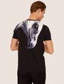 ARMANI EXCHANGE SLIM-FIT EAGLE FEATHER CREW Graphic T-shirt Man e
