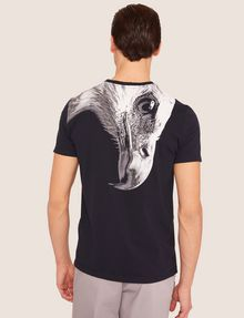 ARMANI EXCHANGE SLIM-FIT EAGLE FEATHER CREW Graphic T-shirt [*** pickupInStoreShippingNotGuaranteed_info ***] e