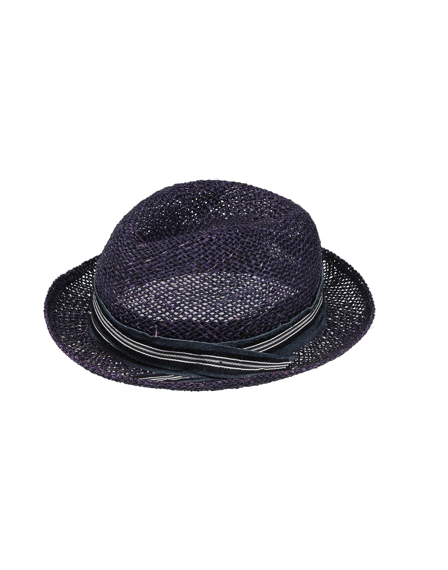 《送料無料》MOVE OFFICINE DEL CAPPELLO レディース 帽子 ブルー 58 ストロー