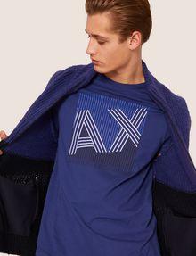 ARMANI EXCHANGE REGULAR-FIT MULTI STRIPE LOGO CREW Logo T-shirt [*** pickupInStoreShippingNotGuaranteed_info ***] a