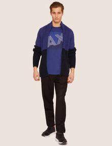 ARMANI EXCHANGE REGULAR-FIT MULTI STRIPE LOGO CREW Logo T-shirt [*** pickupInStoreShippingNotGuaranteed_info ***] d