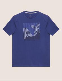 ARMANI EXCHANGE REGULAR-FIT MULTI STRIPE LOGO CREW Logo T-shirt [*** pickupInStoreShippingNotGuaranteed_info ***] r