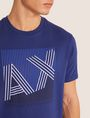 ARMANI EXCHANGE REGULAR-FIT MULTI STRIPE LOGO CREW Logo T-shirt [*** pickupInStoreShippingNotGuaranteed_info ***] b