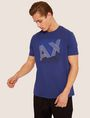 ARMANI EXCHANGE REGULAR-FIT MULTI STRIPE LOGO CREW Logo T-shirt [*** pickupInStoreShippingNotGuaranteed_info ***] f