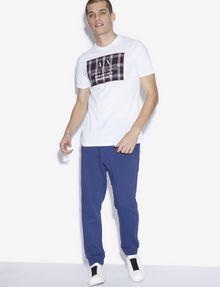 ARMANI EXCHANGE REGULAR FIT RUNDHALSSHIRT MIT PLAID-MOTIV UND KOORDINATEN Logo-T-Shirt [*** pickupInStoreShippingNotGuaranteed_info ***] d