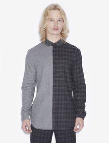 ARMANI EXCHANGE REGULAR-FIT PATTERN BLOCKED PLAID SHIRT Checked Shirt [*** pickupInStoreShippingNotGuaranteed_info ***] f