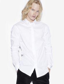 ARMANI EXCHANGE SLIM-FIT STUDDED COLLAR SHIRT Long sleeve shirt [*** pickupInStoreShippingNotGuaranteed_info ***] a