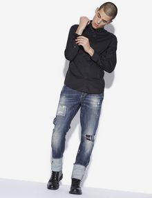 ARMANI EXCHANGE SLIM-FIT STUDDED COLLAR SHIRT Long sleeve shirt [*** pickupInStoreShippingNotGuaranteed_info ***] d