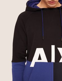ARMANI EXCHANGE COLORBLOCKED LOGO HOODIE Hoodie [*** pickupInStoreShippingNotGuaranteed_info ***] a