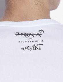 ARMANI EXCHANGE MEN'S STREET ART BY JISBAR CREWNECK TEE Graphic T-shirt [*** pickupInStoreShippingNotGuaranteed_info ***] b