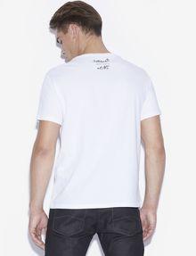 ARMANI EXCHANGE MEN'S STREET ART BY JISBAR CREWNECK TEE Graphic T-shirt [*** pickupInStoreShippingNotGuaranteed_info ***] e