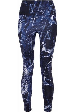 NORMA KAMALI Cropped printed stretch leggings