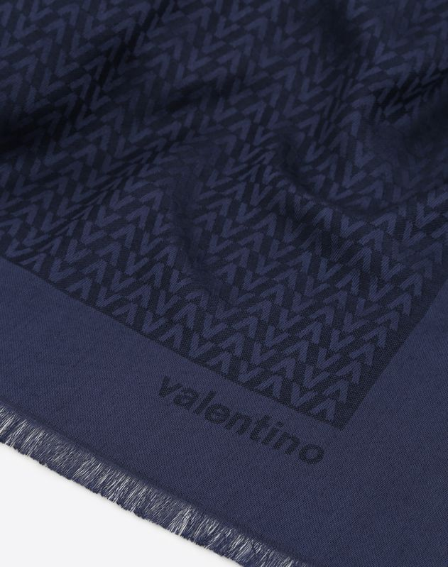 Optical Valentino logo print shawl