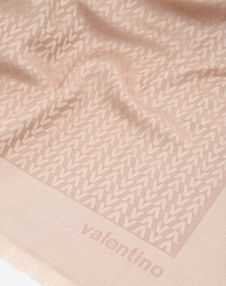 Optical Valentino logo print shawl