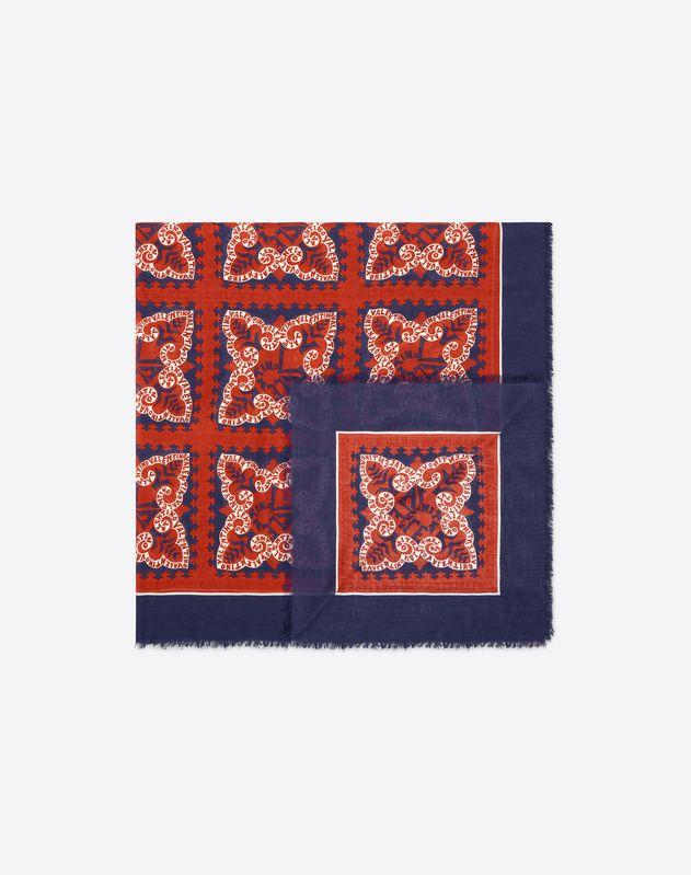 Mini Bandana logo print shawl