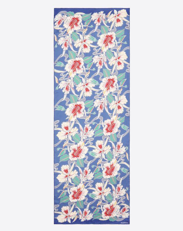 Étole avec imprimé Hibiscus