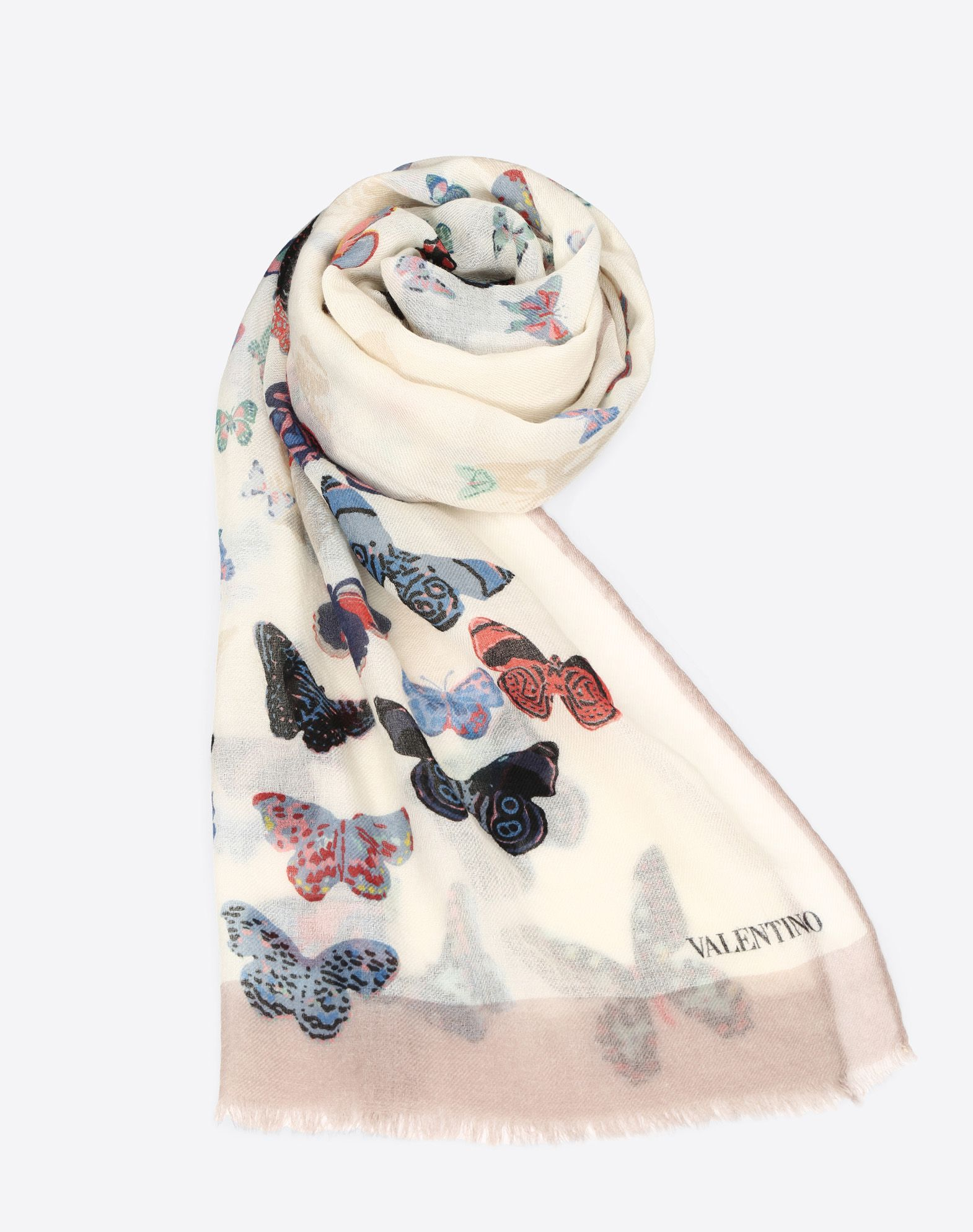Butterfly print stole