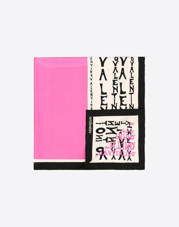 Valentino Manifest logo print scarf