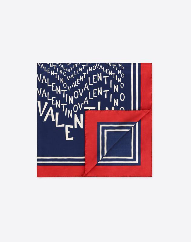 Foulard avec imprimé logo Valentino Chevron