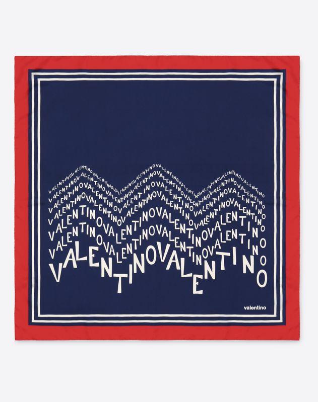 Valentino Chevron logo print scarf