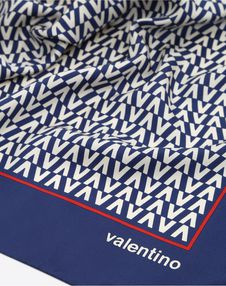 Valentino Optical logo print scarf