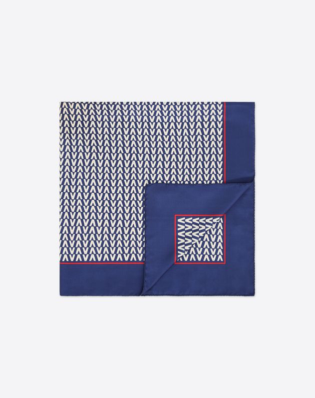 Optical Valentino logo print scarf