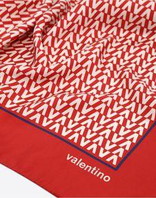 Optical Valentino logo print scarf