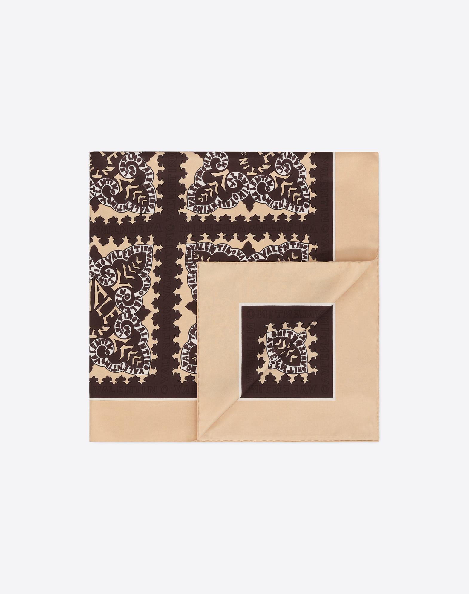 Mini Bandana logo print scarf