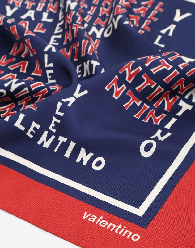 Valentino Scale logo print scarf