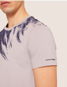 ARMANI EXCHANGE SLIM-FIT EAGLE FEATHER CREW Graphic T-shirt [*** pickupInStoreShippingNotGuaranteed_info ***] b