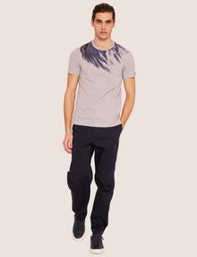 ARMANI EXCHANGE SLIM-FIT EAGLE FEATHER CREW Graphic T-shirt [*** pickupInStoreShippingNotGuaranteed_info ***] d