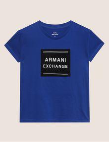 ARMANI EXCHANGE METALLIC BOXED LOGO CREW Logo T-shirt [*** pickupInStoreShipping_info ***] r