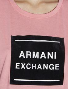 ARMANI EXCHANGE METALLIC BOXED LOGO CREW Logo T-shirt [*** pickupInStoreShipping_info ***] b