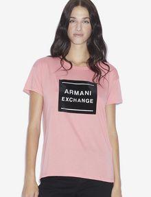 ARMANI EXCHANGE METALLIC BOXED LOGO CREW Logo T-shirt [*** pickupInStoreShipping_info ***] f