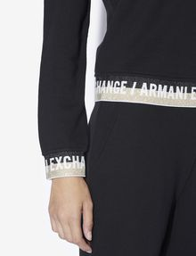 ARMANI EXCHANGE GLITTER LOGO TAPE SWEATSHIRT Sweatshirt [*** pickupInStoreShipping_info ***] b