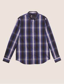 ARMANI EXCHANGE REGULAR-FIT OMBRE PLAID SHIRT Checked Shirt [*** pickupInStoreShippingNotGuaranteed_info ***] r